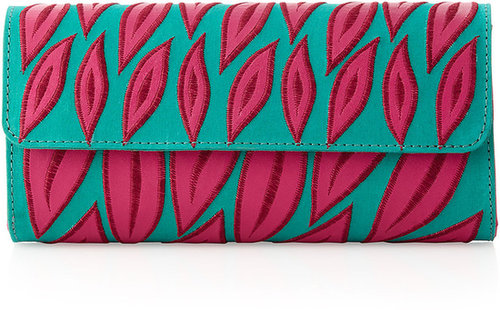 Nanette Lepore Leaf-Cutout Clutch Bag, Aqua