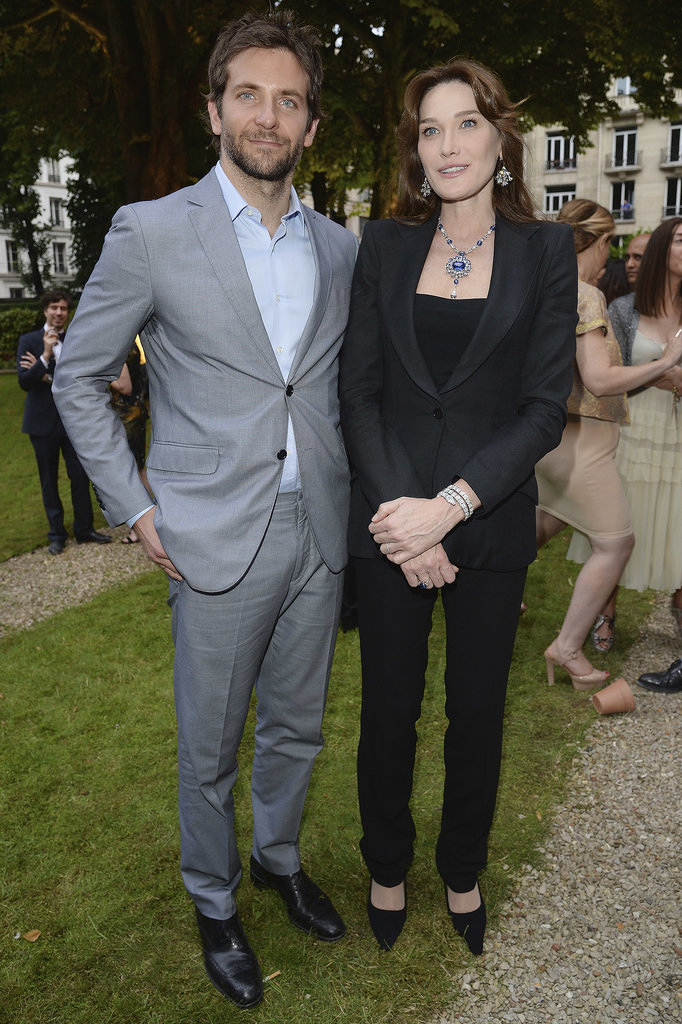 Bradley Cooper hung out with Carla Bruni-Sarkozy.