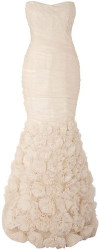 THEIA Organza sleeveless gown flow skirt dress