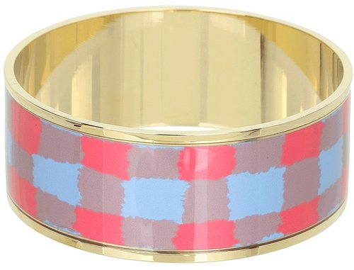 Marc by Marc Jacobs - Molly Check Bangle (Coral Red Multi (Oro)) - Jewelry