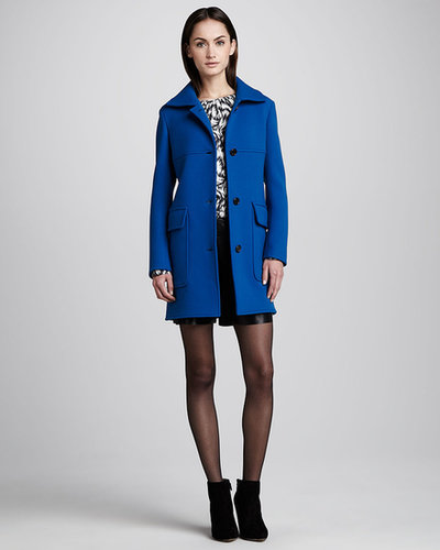 Derek Lam Patch Pocket Coat, Cobalt