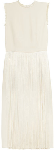 Stella McCartney Silk-fringed cady dress