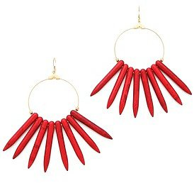 Kenneth jay lane Gold Hoop Sticks Earrings
