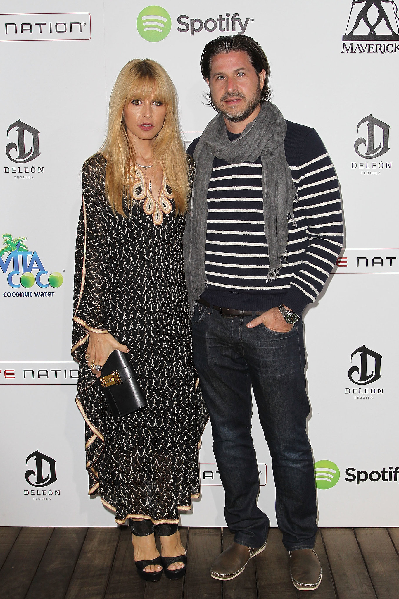 In Malibu, Rachel Zoe and Rodger Berman looked laid-back in coordinating black and white ensem