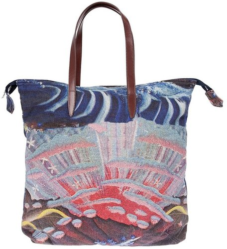 Dries Van Noten Printed Bag