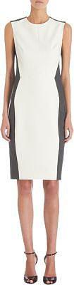 Narciso Rodriguez Sleeveless Contrast Sides Shift Dress