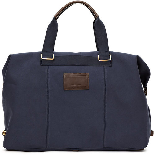 Burma CANVAS  HOLDALL WITH COLOURED ZIP AND LEATHER TRIMS