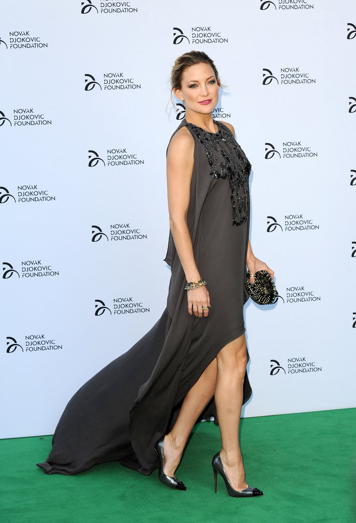 Kate Hudson looked stunning in Elie Saab at the Novak Djokovic Foundation gala dinner in London on Monday.