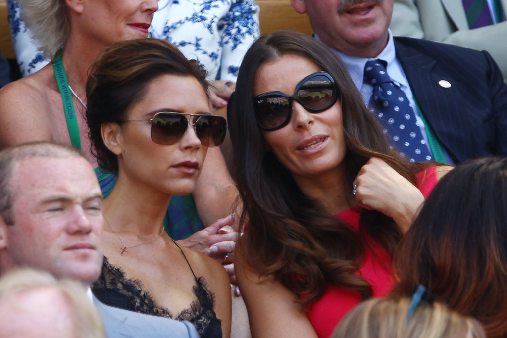 Victoria Beckham and Tana Ramsay checked out the men's final match on July 7.
