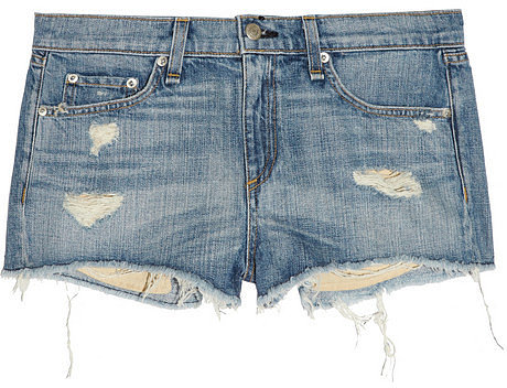 Rag & bone JEAN Mila distressed denim shorts