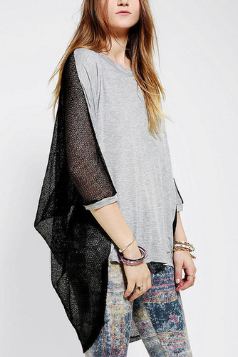 Lucca Couture Mesh-Back Oversized Tee