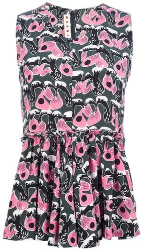 Marni abstract print playsuit