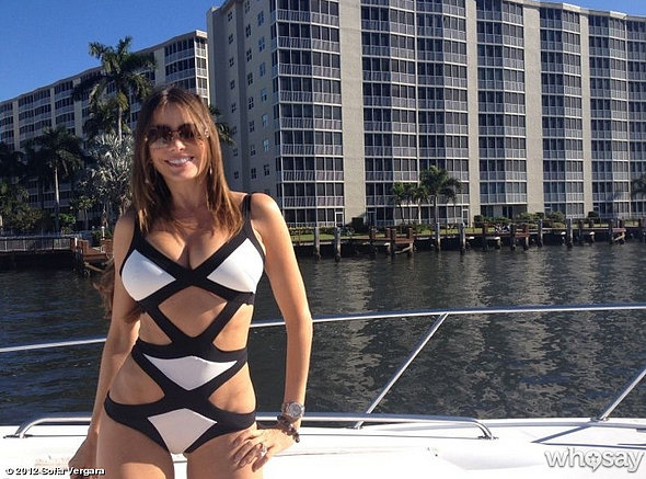 Sofia showed off her figure in a sexy cutout swimsuit while on vacation in Florida in December 2012. Source: Who Say user Sofia Vergara