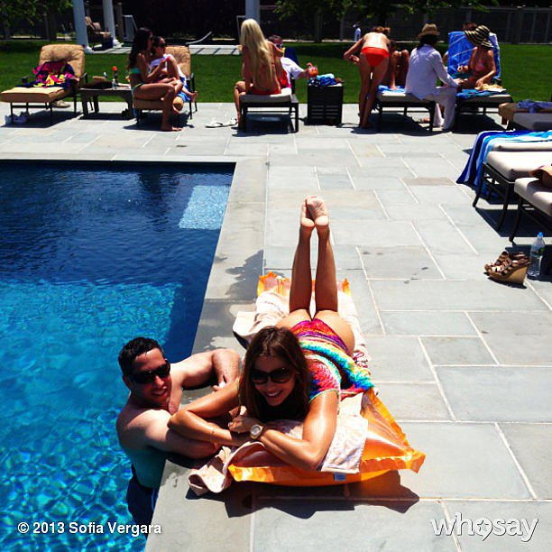 Sofia laid by a pool in June 2013. Source: Who Say user Sofia Vergara