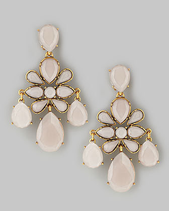 Oscar de la Renta Faceted Chandelier Earrings, Petal