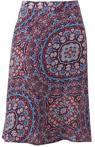 Croft and barrow midi challis skirt