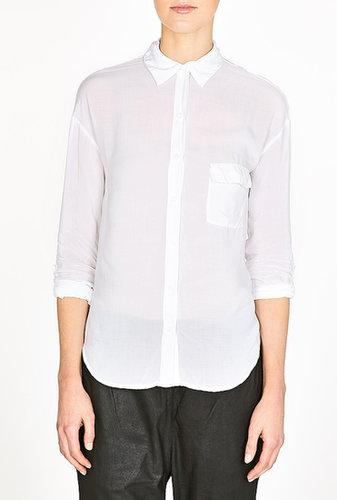 Splendid White Long Sleeve Pocket Shirt
