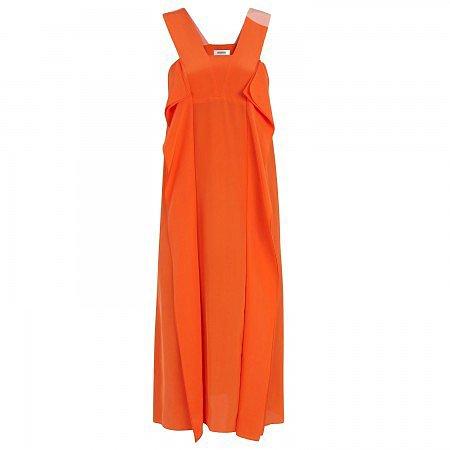 Sonia by Sonia Rykiel Two-tone silk dress - Orange