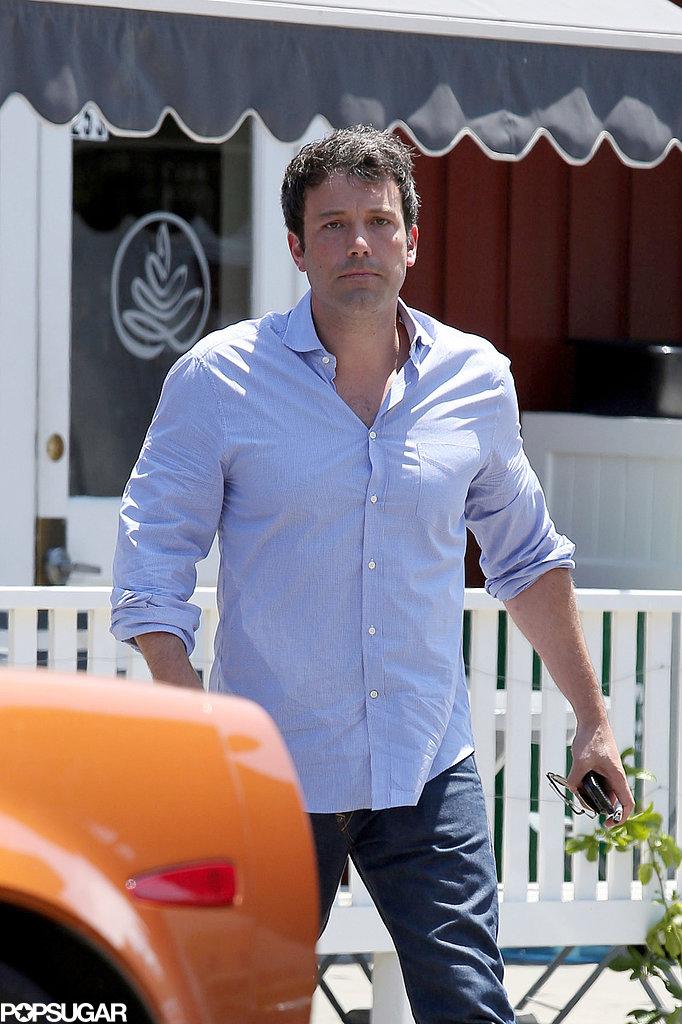 Ben Affleck made his way to his car in LA.