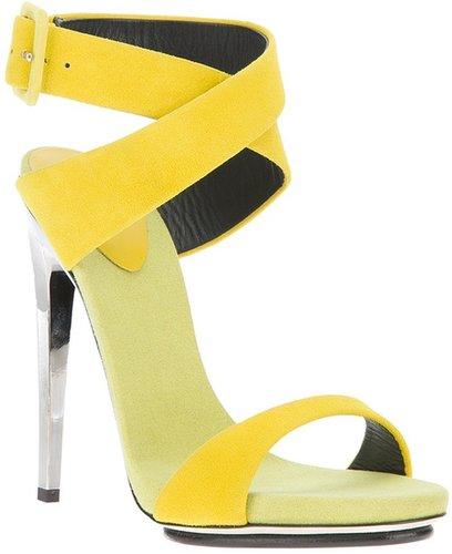 Giuseppe Zanotti Design chrome stiletto sandal