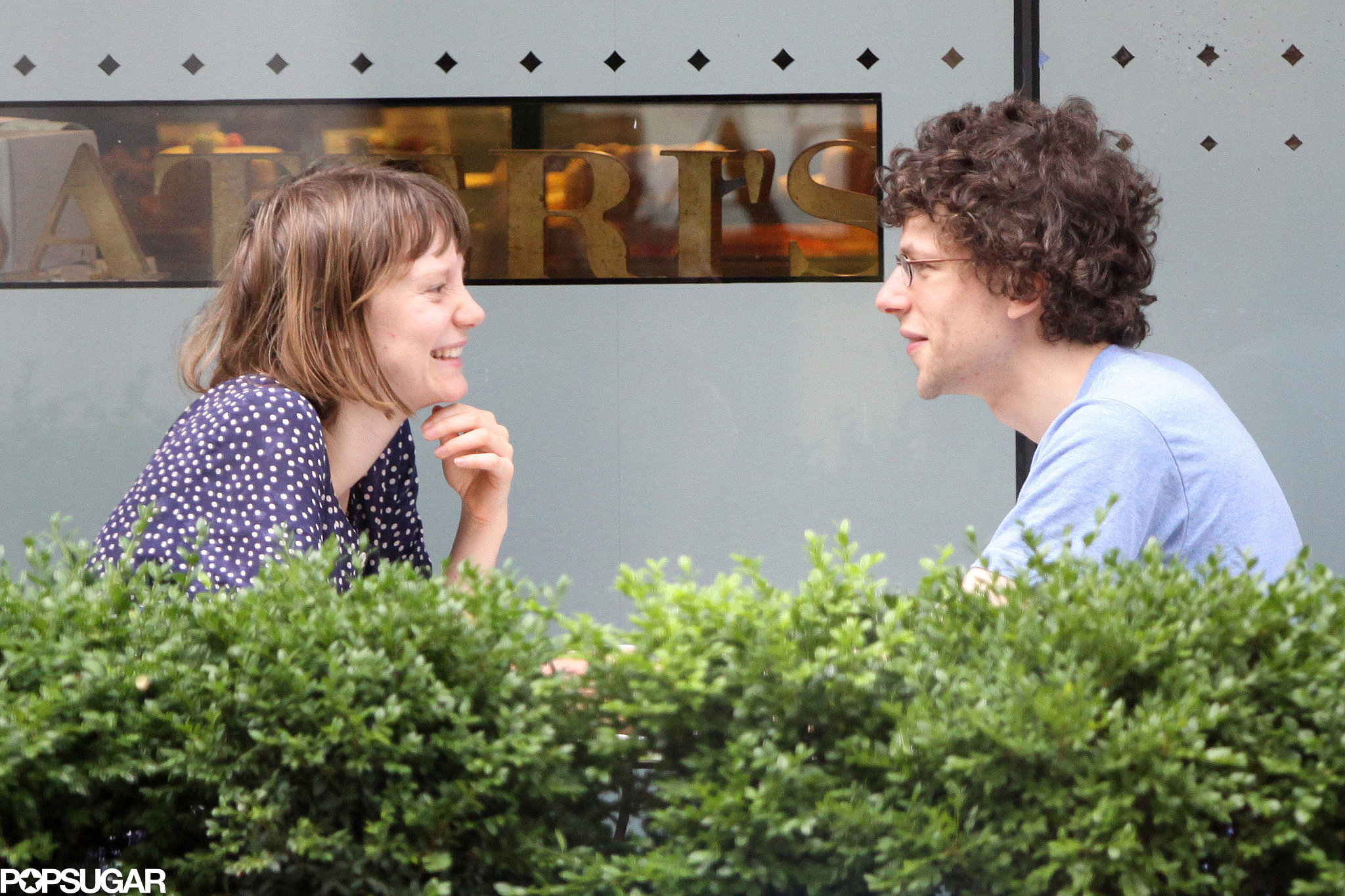 Jesse Eisenberg and Mia Wasikowska had a date in Toronto.