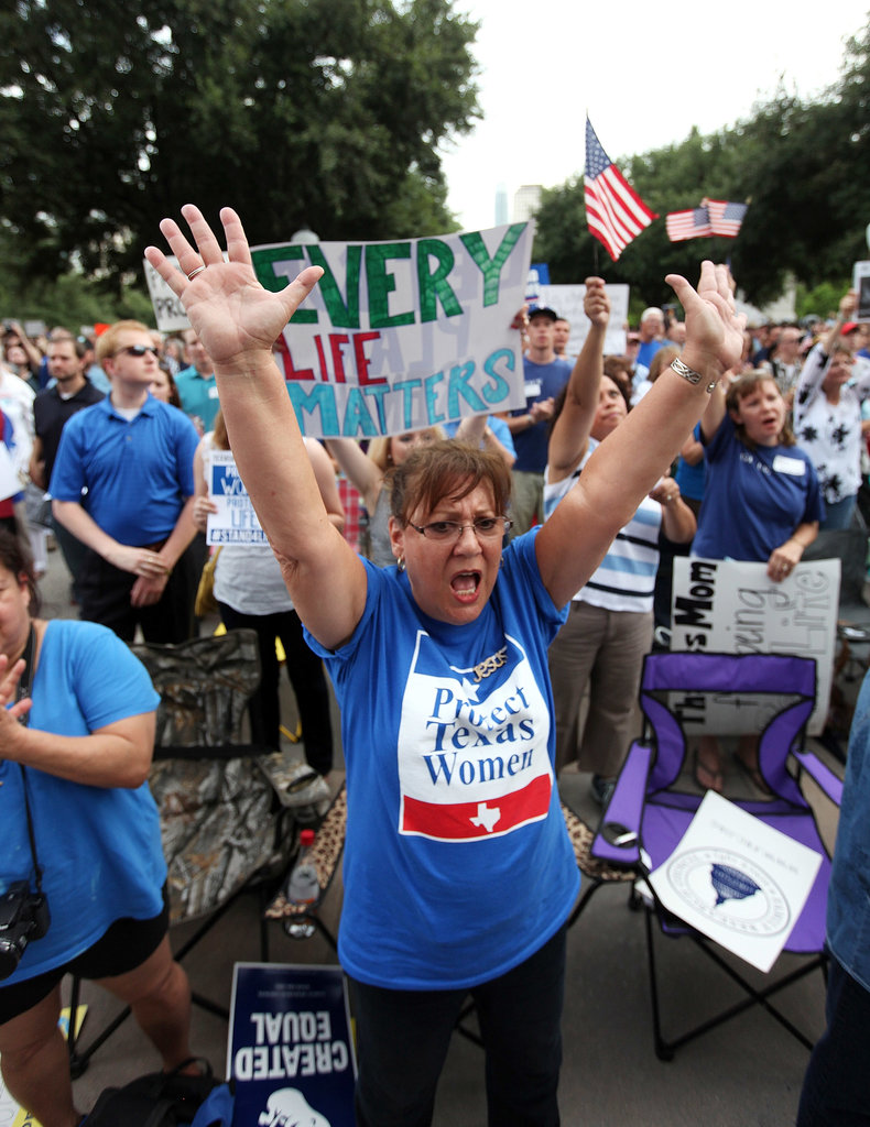 Pro-life supporters chanted and cheered in Austin.