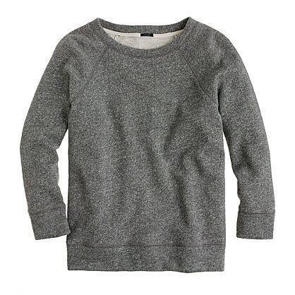 Fleece three-quarter sleeve tee