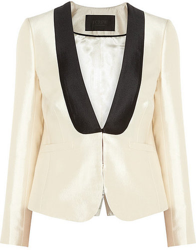 J.Crew Tuxedo wool and silk-blend twill jacket