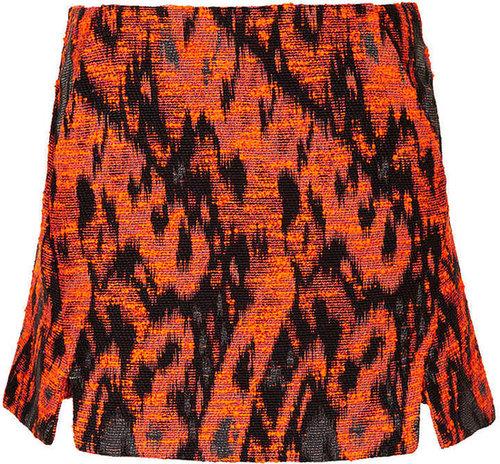 Petite Aztec Boucle Pelmet Skirt