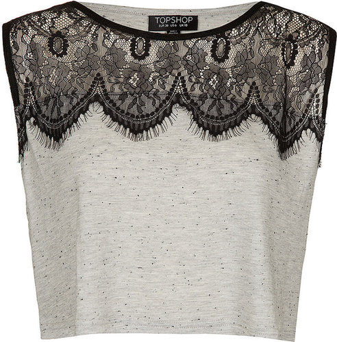 Eyelash Lace Crop Top