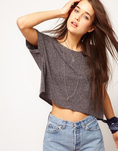 ASOS Crop Textured T-Shirt