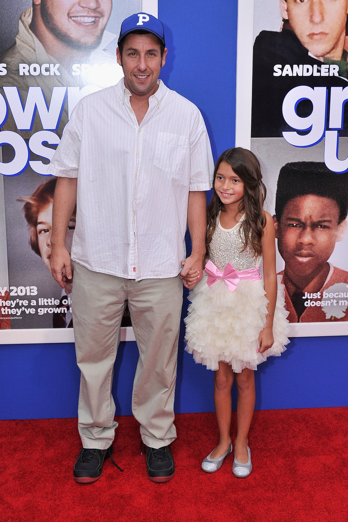 Adam Sandler held hands with one of the child actors from the film.