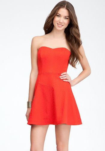 Heart Neck Strapless Dress