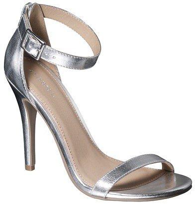 Women's Xhilaration® Susy Strappy Heel - Silver