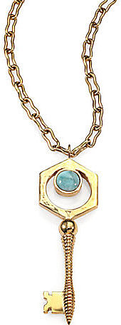 Kelly Wearstler Larimar Covet Key Pendant Necklace