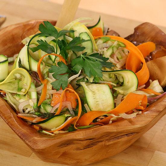 Ribboned Summer Vegetable Salad   Video