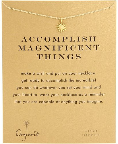Dogeared Jewels - Accomplish Magnificent Things Necklace 16 (Gold) - Jewelry