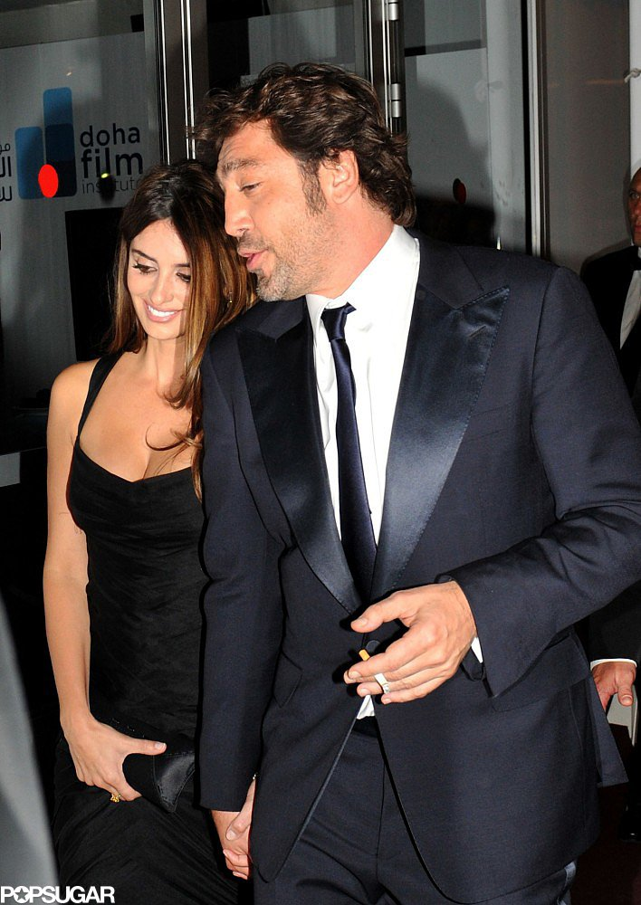 Penélope held onto Javier's hand while leaving a party in Cannes in May 2010.