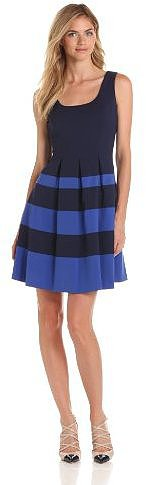 Nine West Dresses Women's Mini Waffle Pleated Dress