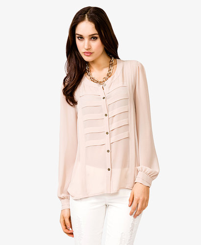 FOREVER 21 Pintucked Pleats Shirt