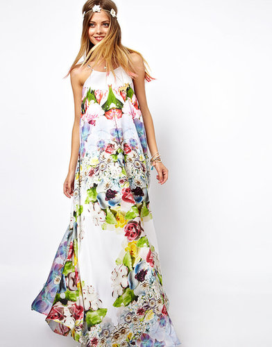 ASOS SALON Floral Print Maxi Dress