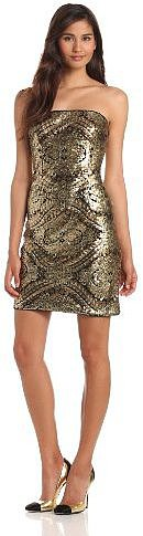 Adrianna Papell Women's Strapless Sequin Dress