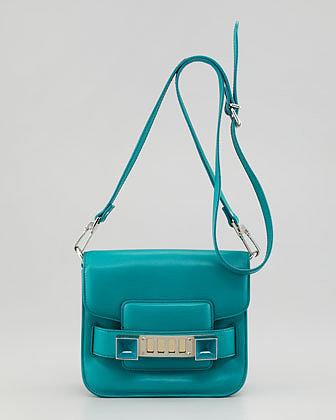 Proenza Schouler PS11 Tiny Crossbody Bag, Turquoise