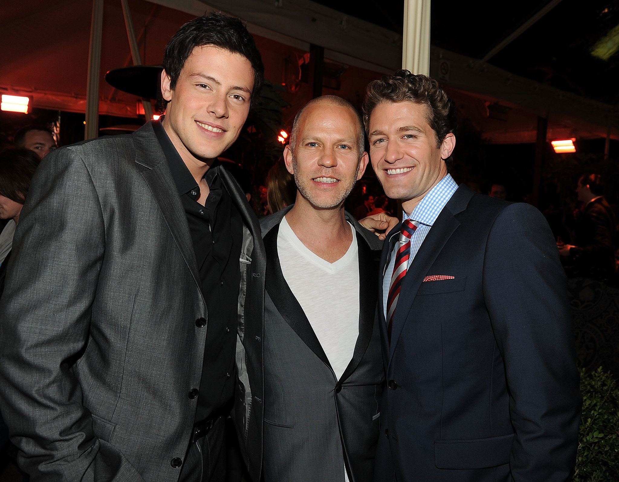 Cory Monteith met up with Ryan Murphy and Matthew Morrison at the Glee Spring soiree in LA in April 2010.