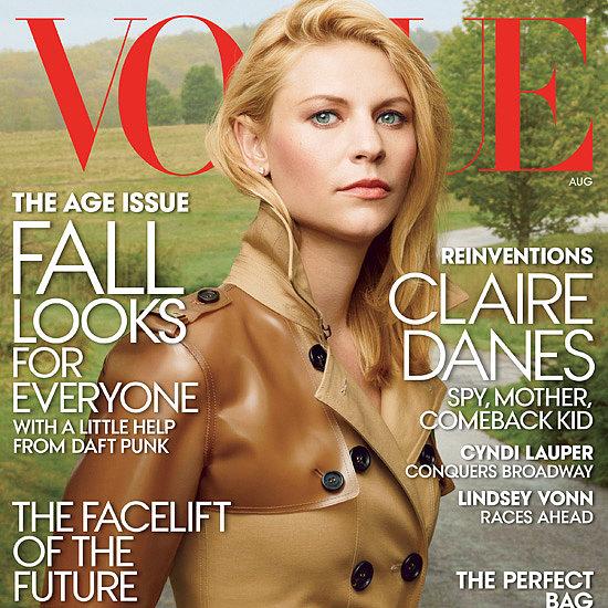 Claire Danes Hair | Vogue August 2013