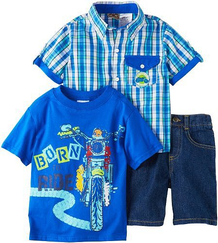 Little Rebels Boys 2-7 Three-Piece Born To Ride Set