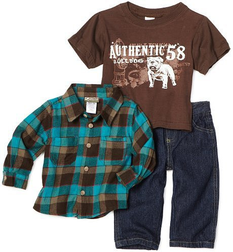 Nannette Baby-boys Infant Bulldog Pant Set