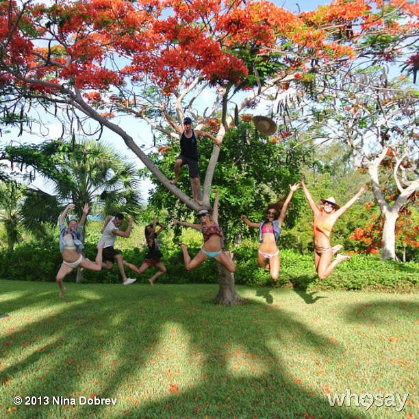 Nina Dobrev and her friends practiced for the next installment of High School Musical. Source: Nina Dobrev on WhoSay