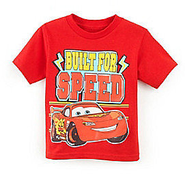 Cars Boys' 2T-4T Red Short Sleeve Built for Speed Tee