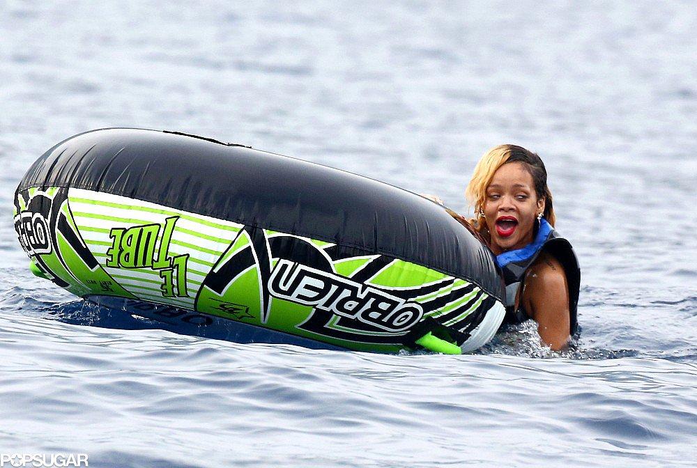 Rihanna and Bikini-Clad Cara Make a Splash in Monaco